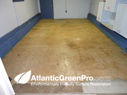 Atlantic green pro residential sandblasting for How to clean a concrete floor for painting