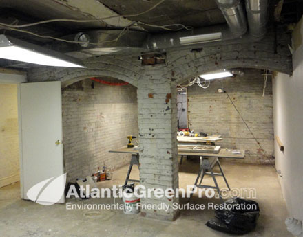 How To Stucco Basement Walls. Brick Walls Before Surface Restoration This Is An Example Of What The Walls And Rooms Looked Like Prior To Having The Paint Removed
