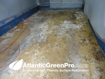 Atlantic green pro residential sandblasting for Clean concrete floor for painting