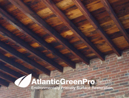 Example Of Wood Ceiling After Restoration This Is An What The Client Was Looking For As Far Finished Product Atlantic Green Pro Stripped